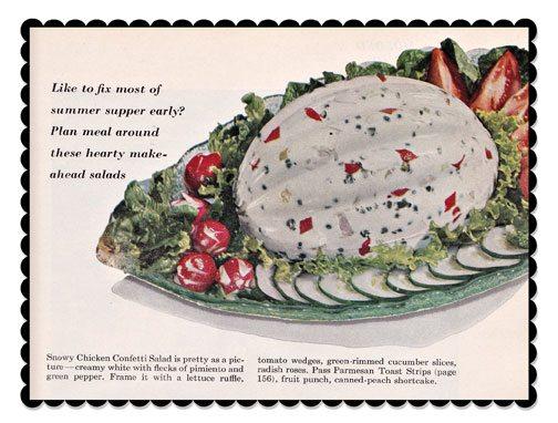 Insane Vintage Recipes: Snowy Chicken Confetti Salad