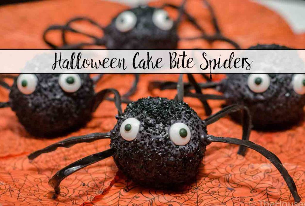 Halloween Cake Bite Spiders: Red velvet and dark chocolate cake bites, add chocolate coating and decorations to make adorable spiders.