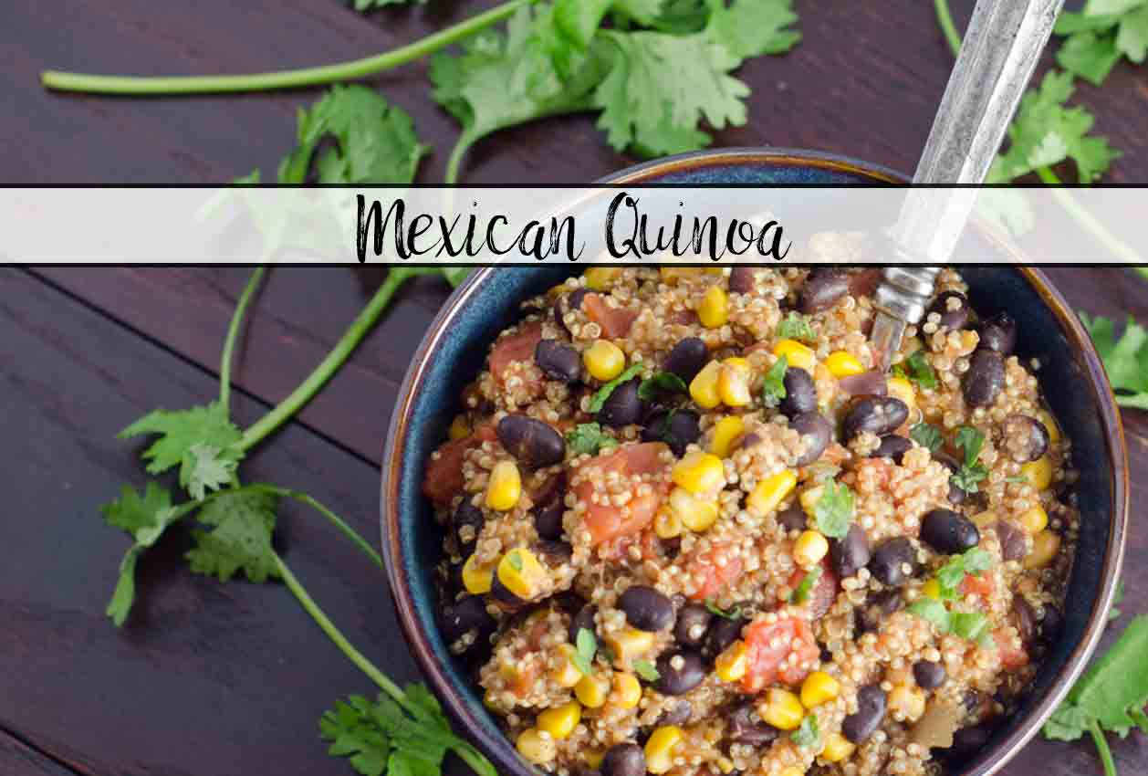 Mexican Quinoa. Delicious, healthy, very easy to make, one-pot meal. Eat alone or wrap in a tortilla.