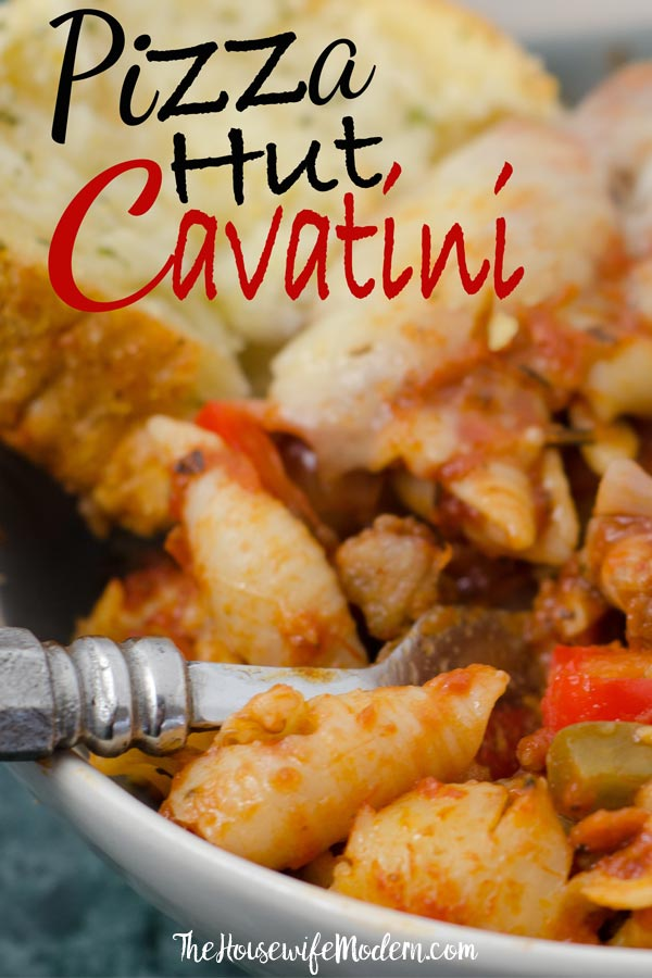 Pin image for Pizza Hut cavatini.