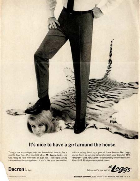 Sexist Vintage Ads: Mr. Leggs Slacks