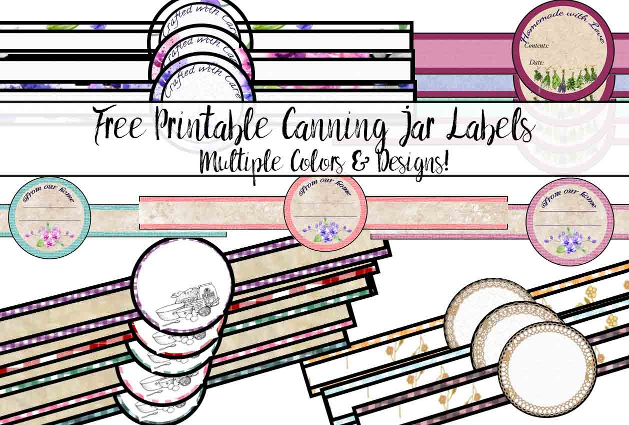 picture relating to Printable Jar Labels named No cost Printable Canning Jar Labels: Heaps of Plans Hues