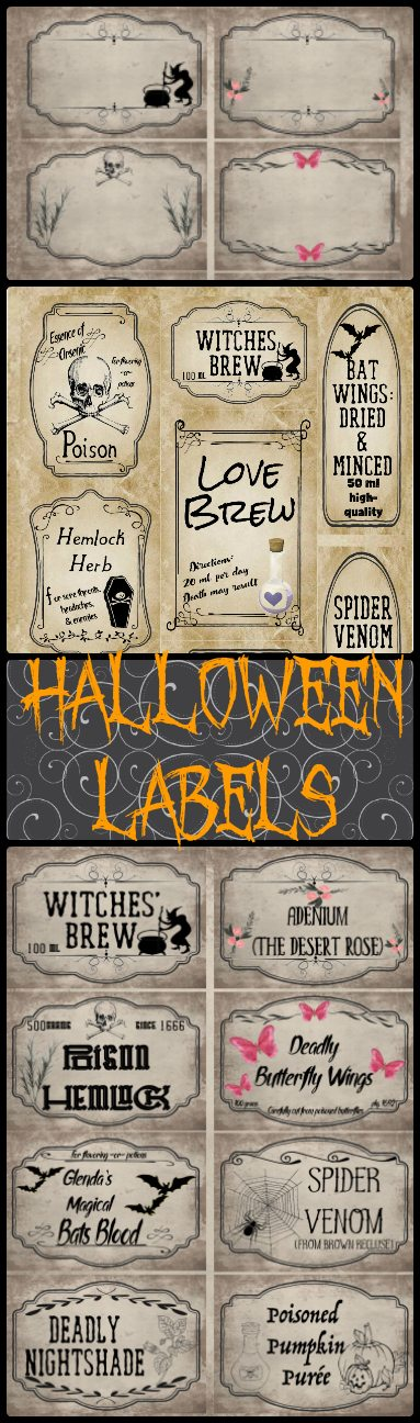 photograph relating to Free Printable Vintage Apothecary Labels called No cost Printable Halloween Apothecary Labels: 16 Strategies moreover