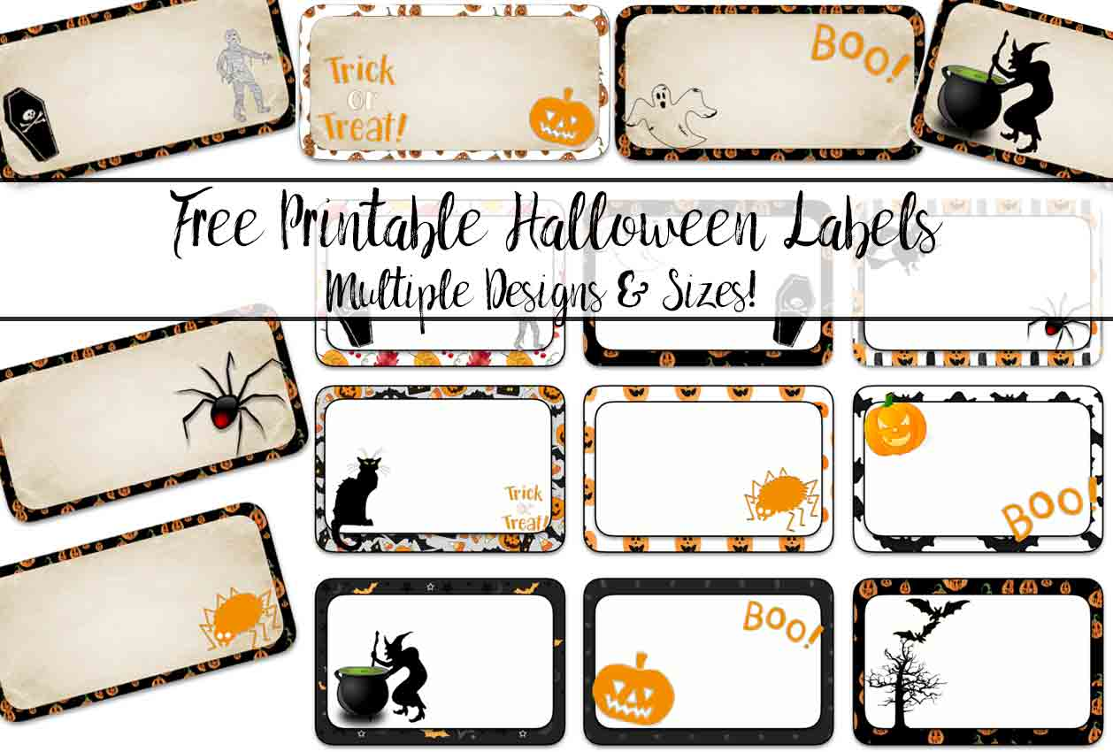 image about Printable Halloween Labels referred to as No cost Printable Halloween Labels: Several Dimensions, Various