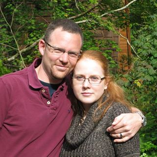 Me & my husband George. My favorite picture of us...despite my looking grumpy. I wasn't...that's how I look!