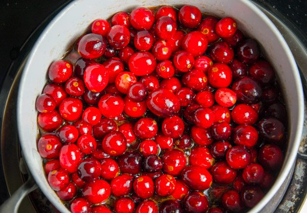 Bring cranberry mixture to a boil.