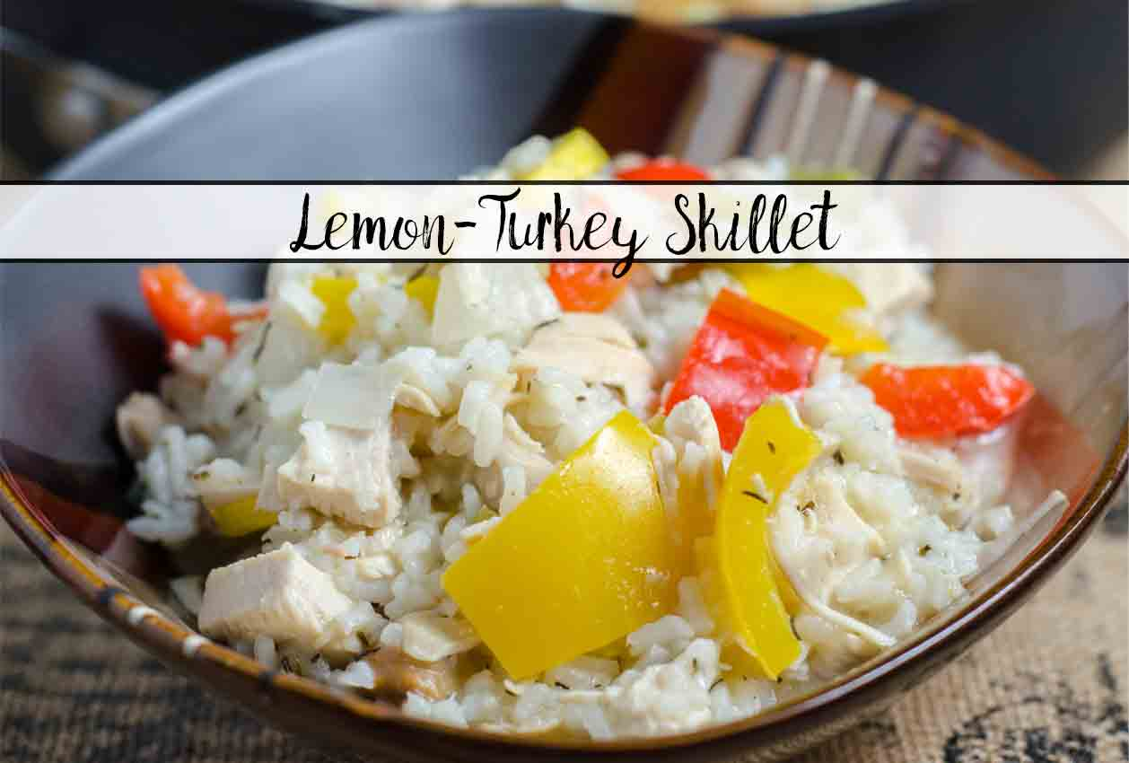 One-Pot Lemon-Turkey Skillet: How to Make Leftover Turkey Fabulous. Great way to use of up leftover turkey (or use store-bought). Vibrant, fresh flavor.