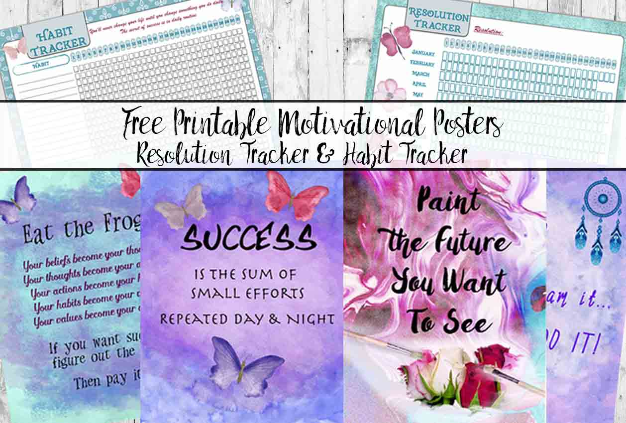 picture about Printable Motivational Posters identify Free of charge Printable Motivational Posters, Routine Tracker