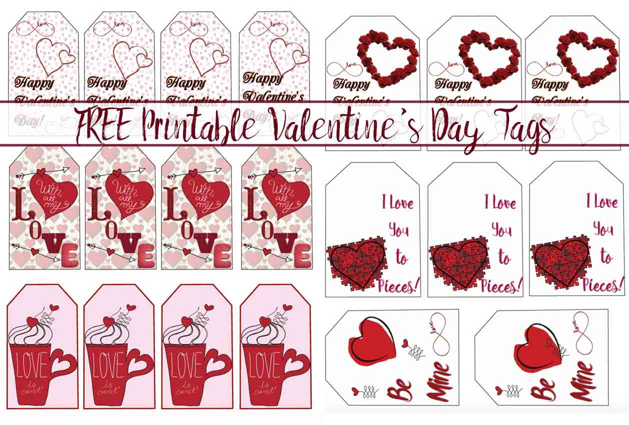 photograph relating to Valentine's Day Tags Printable referred to as Free of charge Printable Valentines Working day Present Tags: Numerous Ideas
