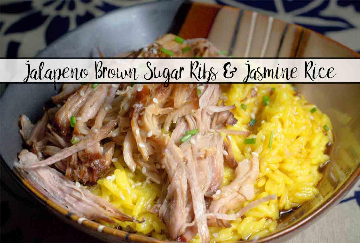Easy Slow-Cooker Jalapeño Brown Sugar Ribs & Jasmine Rice