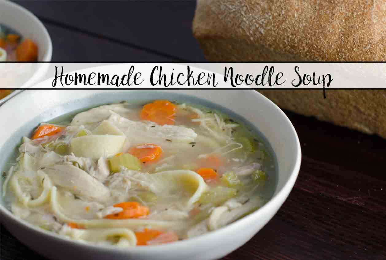 Homemade Chicken Noodle Soup (even the noodles!)
