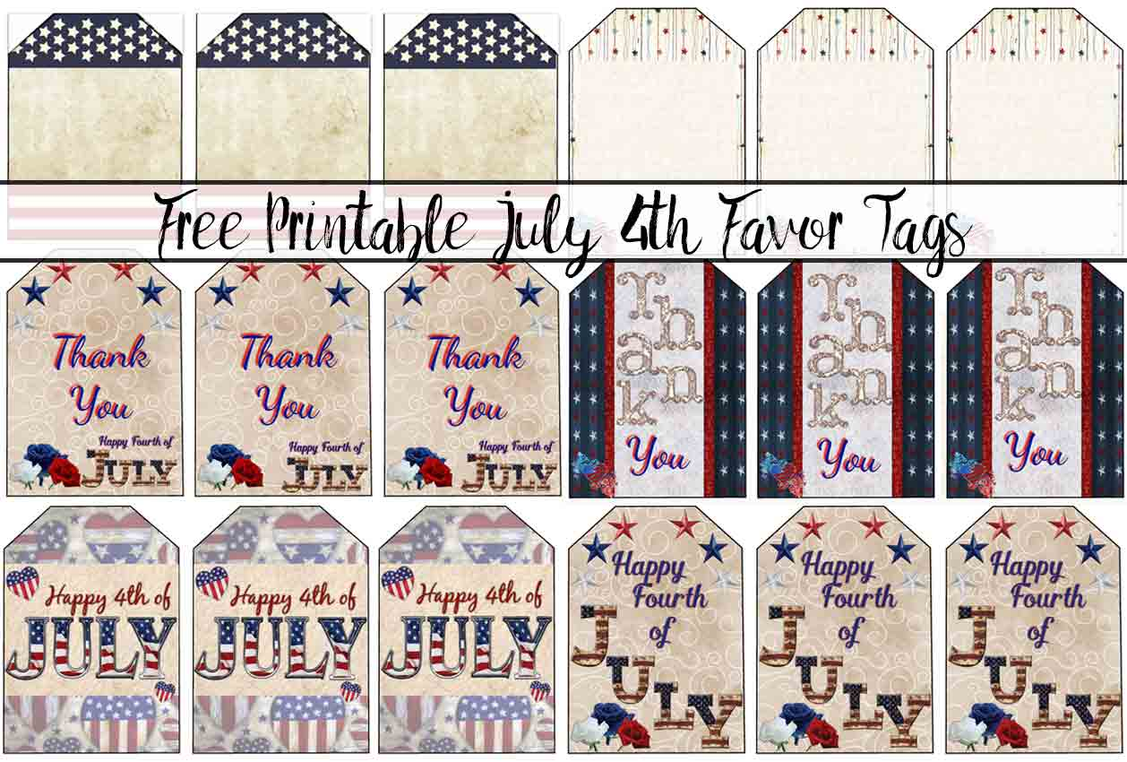 Free Printable 4th of July Favor Tags