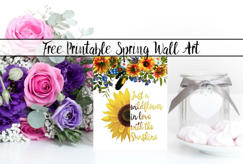 Free Printable Spring Wall Art: 4 Different Designs