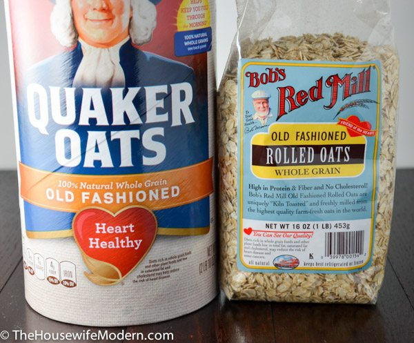 You can use any quick-cooking oats. I recommend Quaker, though.