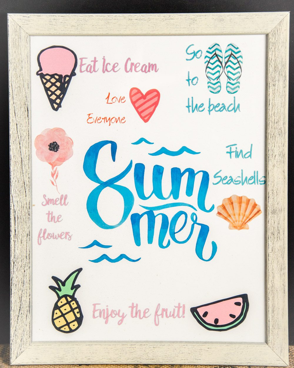 FREE Cheerful Summer Printables: 6 Designs to Brighten Your Day! Use for wall decor, putting in organizer, or just brightening your surroundings.