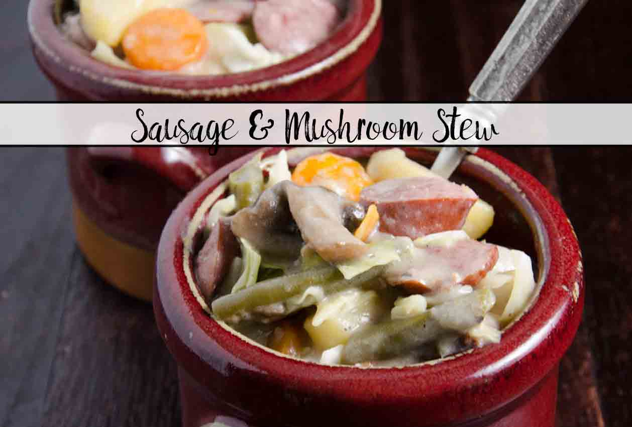 Easy One-Pot Sausage and Mushroom Stew