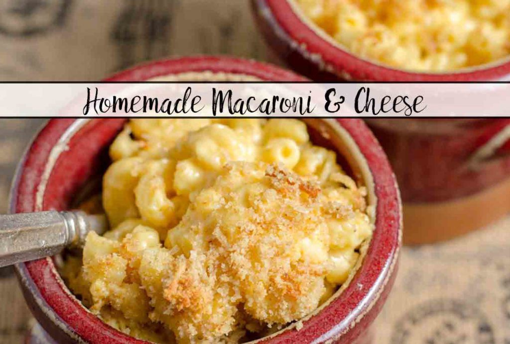 Classic Baked Macaroni and Cheese Recipe. Creamy, cheesy, and with a perfect buttery, crunchy topping. You'll never buy the blue box again.