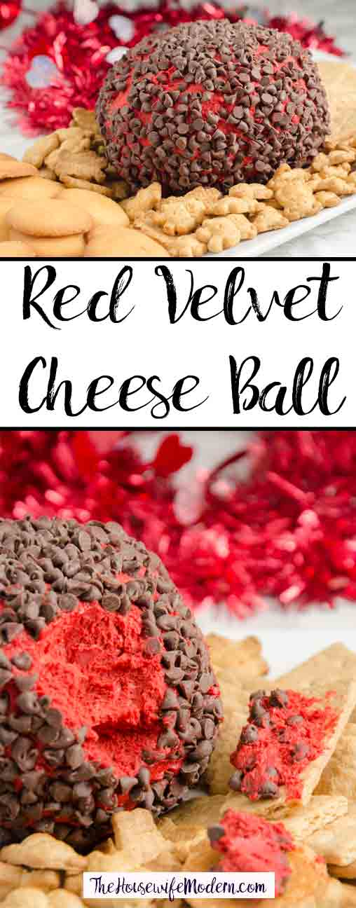 Red Velvet Cheese Ball recipe. White chocolate, red velvet, and cream cheese combine to make an appetizer (or dessert) that is both delicious and sure to impress.