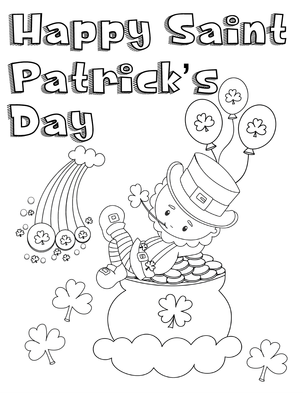 picture relating to Free Printable St Patrick Day Coloring Pages named No cost Printable St. Patricks Working day Coloring Webpages: 4 Plans!