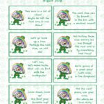 Free printable St. Patrick's Day Treasure Hunt. This treasure hunt for kids is a great activity. A leprechaun has left clues that they need to follow to get to the treasure!