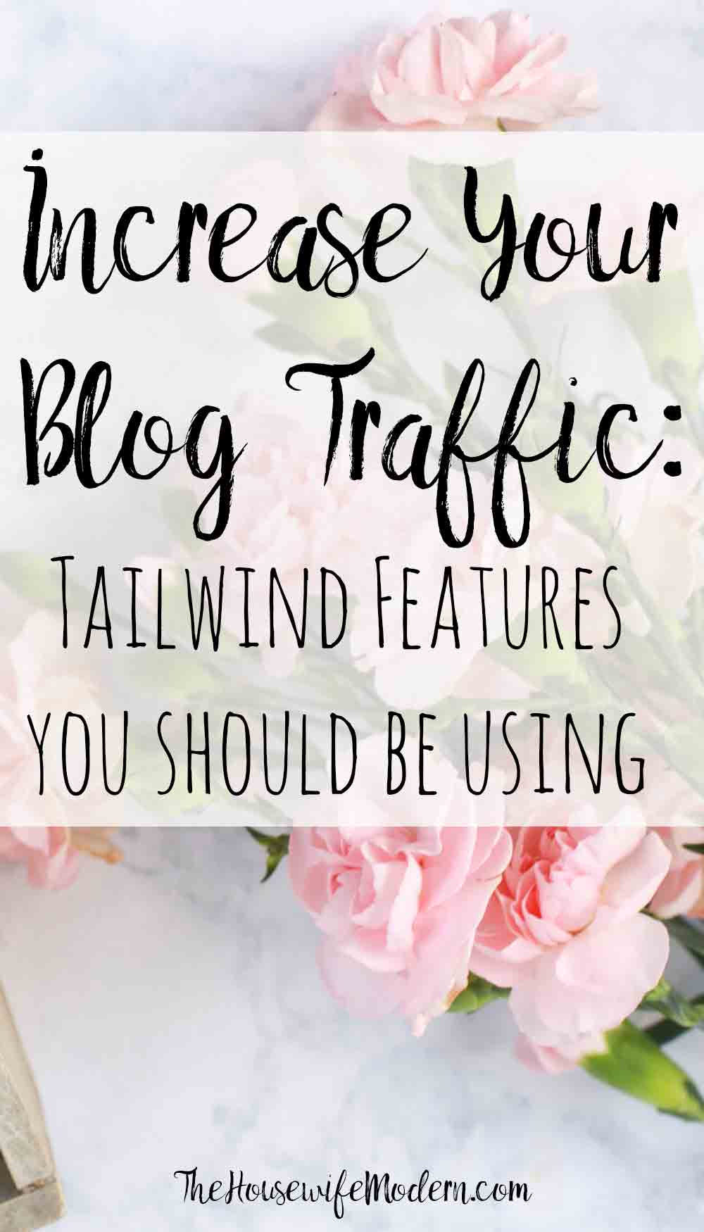 How to Use Tailwind: All the Features You Need to Know. Why I love Tailwind (my traffic is up by 487% in 3 little months), all of the features, and exactly how to use them. #tailwind #pinterest #blog #blogging #tailwindfeatures #traffic