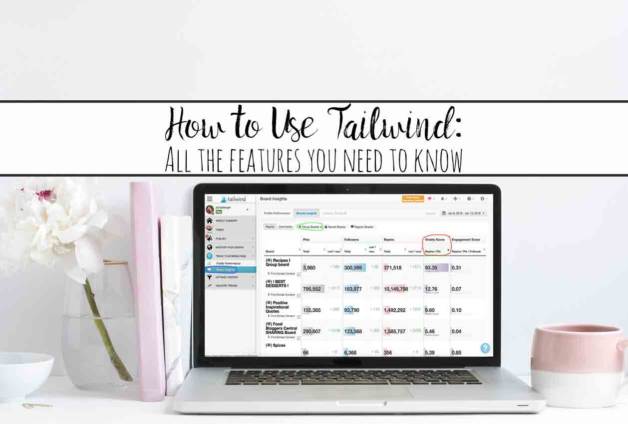 How to Use Tailwind: All the Features You Need to Know. Why I love Tailwind (my traffic is up by 487% in 3 little months), all of the features, and exactly how to use them.