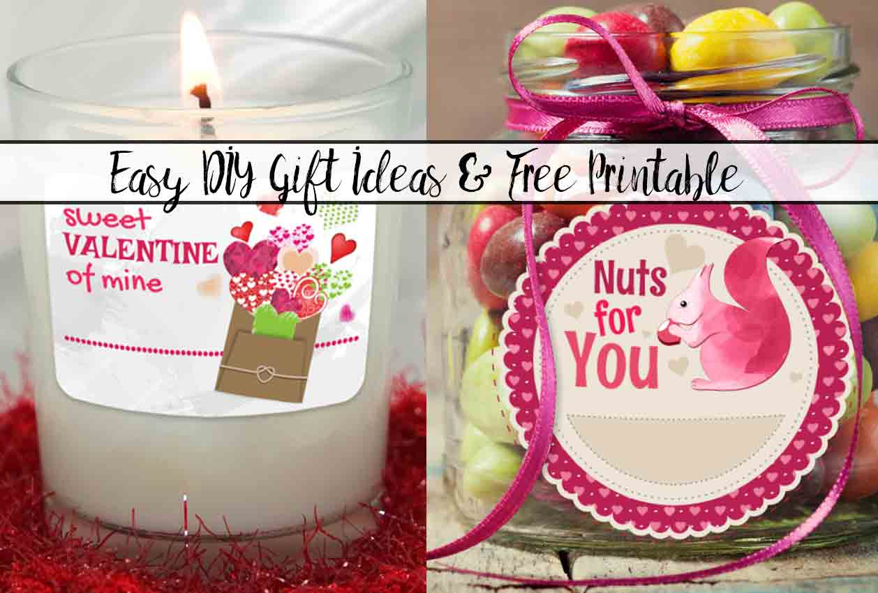 Easy DIY Valentine's Day Gift Ideas with Free Printable
