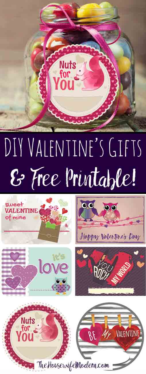Easy DIY Valentine's Day Gift Ideas with Free Printable: practical, easy gifts to give this Valentine's Day with cute FREE printable labels (multiple designs!).