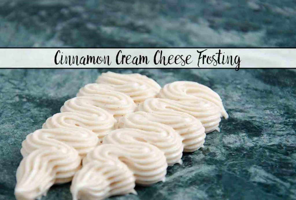 Cinnamon Cream Cheese Frosting. Easy to make, delicious and versatile. Spicy, sweet, creamy, and delicious. Use on rolls, anything pumpkin flavored, and more.