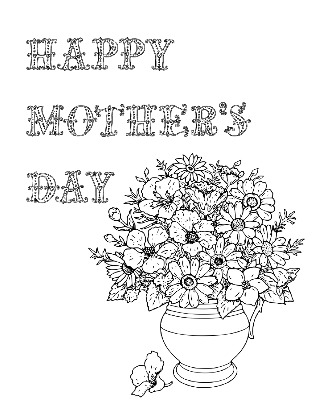 picture regarding Printable Mothers Day Pictures known as No cost Printable Moms Working day Coloring Internet pages: 4 Strategies