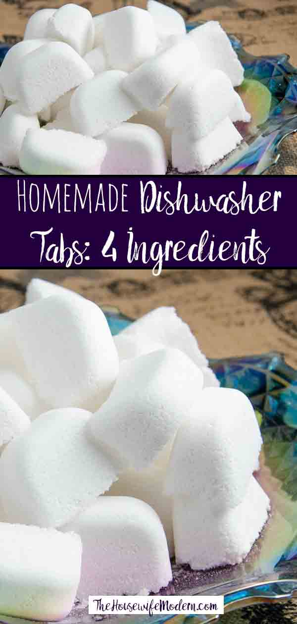 How to Make Homemade Dishwasher Detergent Tabs (That Actually Work!). I tried and tested half a dozen methods and found the best. Save money. #dishwasherdetergent #detergent #homemade #save