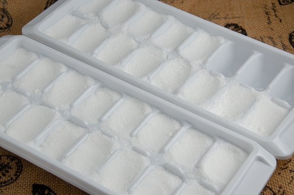 Mix and pack into ice cube trays. The amount of time to harden will depend upon local humidity.