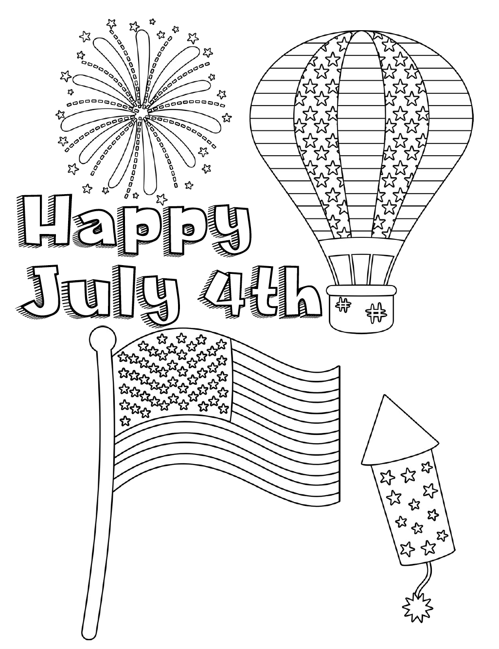 photograph relating to Free Printable 4th of July Coloring Pages identify Free of charge Printable Fourth of July Coloring Web pages: 4 Programs