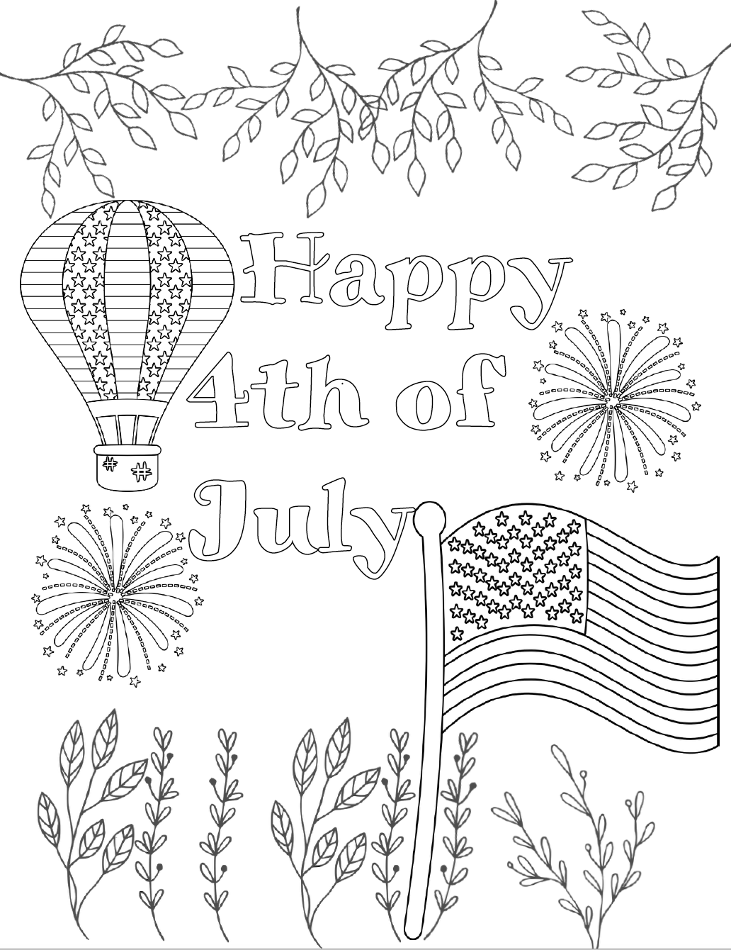 photo regarding July 4th Coloring Pages Printable named Free of charge Printable Fourth of July Coloring Web pages: 4 Ideas