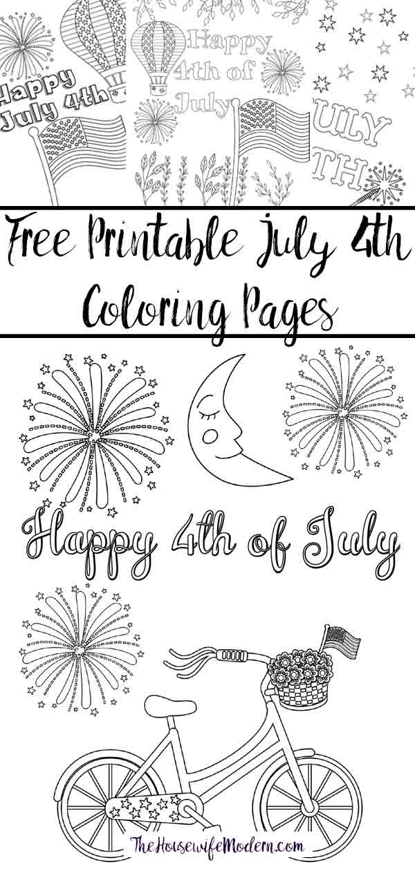 Free Printable Fourth of July Coloring Pages. 4 different designs, patriotic July 4th coloring pages for Independence Day. Just print and enjoy! #coloring #coloringpages #july4 #fourthofjuly #patriotic