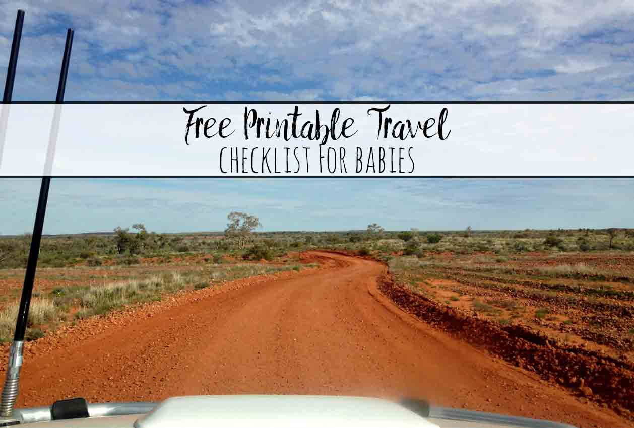 Free Printable Travel Packing List for Babies. A free printable checklist of the all the essentials you need for traveling with a baby.