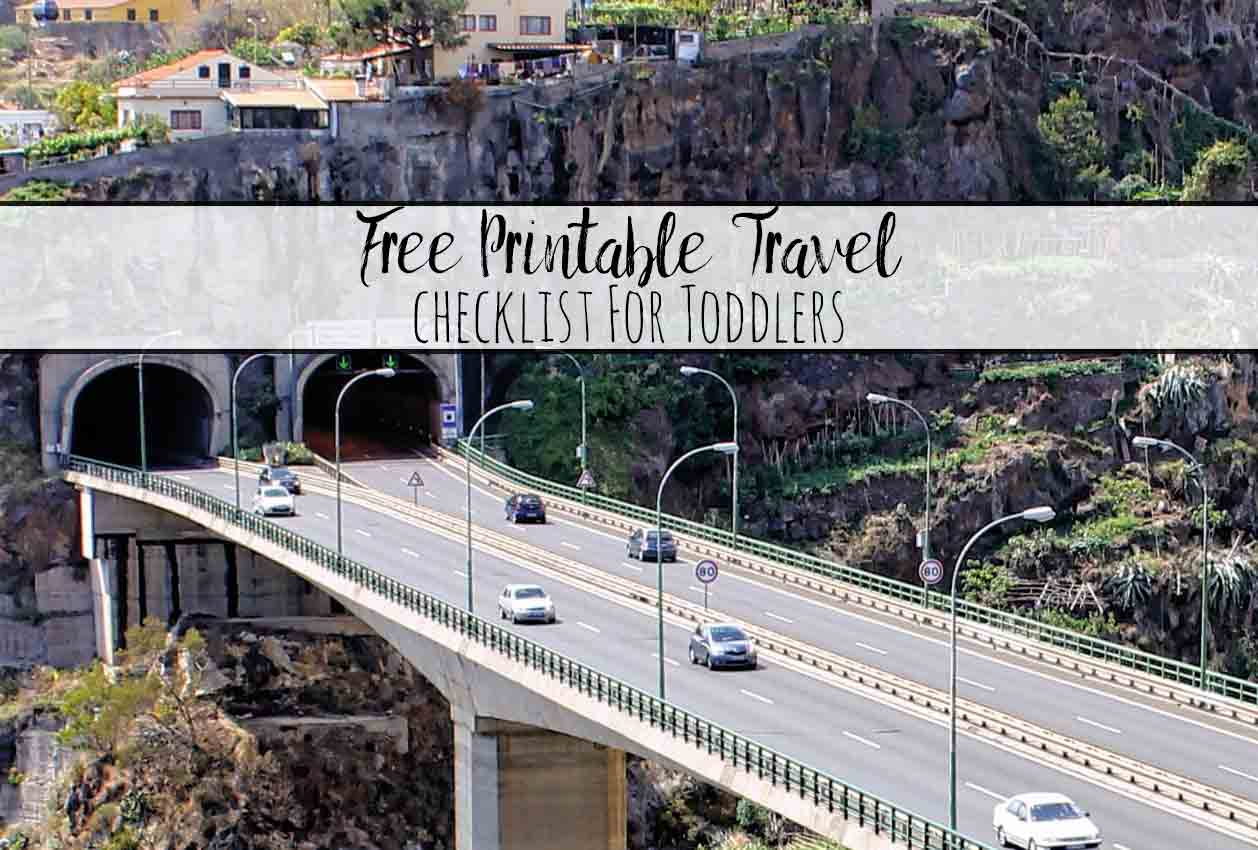 Free Printable Travel Packing List for Toddlers. A free printable checklist of the all the essentials you need for traveling with a toddler.