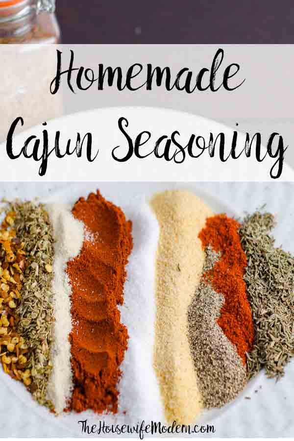 Homemade Cajun Seasoning. Super flavorful. Trust me...you will NEVER buy store-bought again. Plus ideas for where to use Cajun Seasoning. #cajunseasoning #cajun #homemade #spice #spices