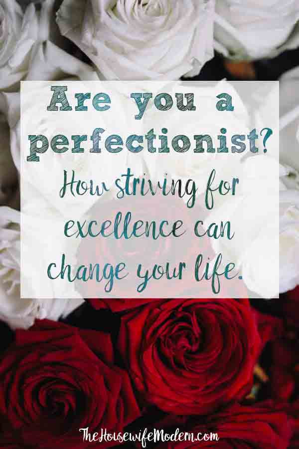 Strive for Excellence, Not Perfection: Can this change your life? How striving for excellence can change your life. #excellence #perfectionism #perfectionist #life