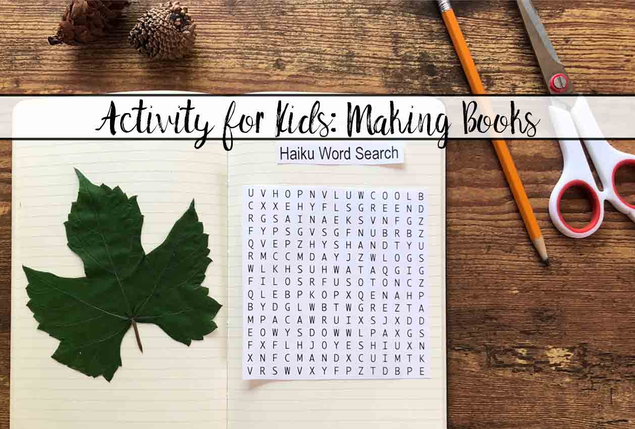 Beat Boredom on a Rainy Day by Making Books! Rainy day kids activity. Ideas on creating a homemade book and how to put it together.