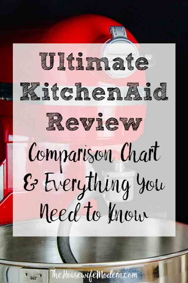 The Ultimate KitchenAid Mixer Review: Comparison Chart & Everything You Need to Know. Is a KitchenAid mixer really worth it? What you need to know before you buy. #kitchenaid #mixer