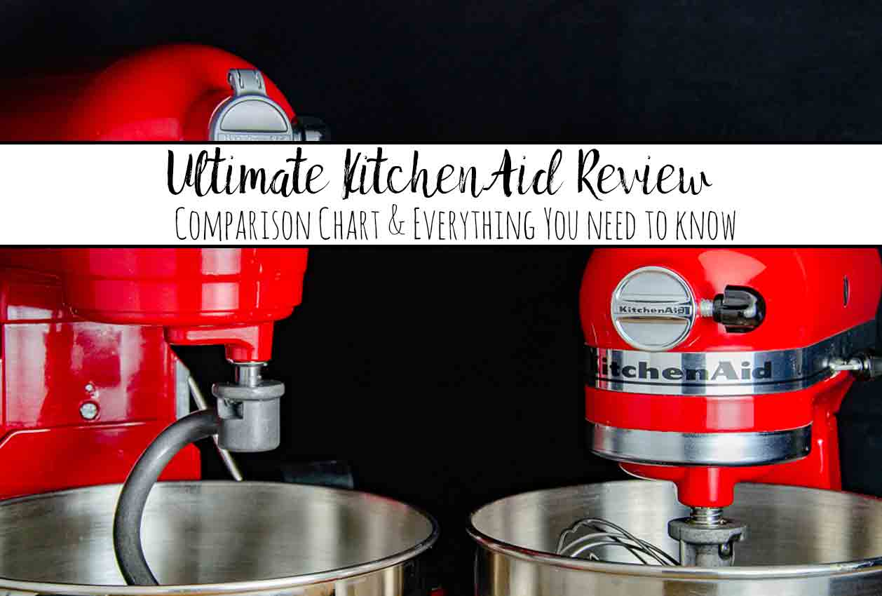 The Ultimate KitchenAid Mixer Review: KitchenAid Comparison Chart & Everything You Need to Know