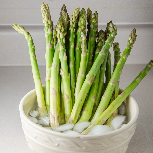 Not that I recommend letting your asparagus gets wilted…but if it does, refresh it by letting it sit in a bowl of ice water. It will plump back up and turn brighter green. The taste that is lost won't reappear, though.