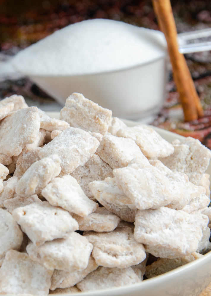 Snickerdoodle Muddy Buddies, aka: Snickerdoodle Puppy Chow.