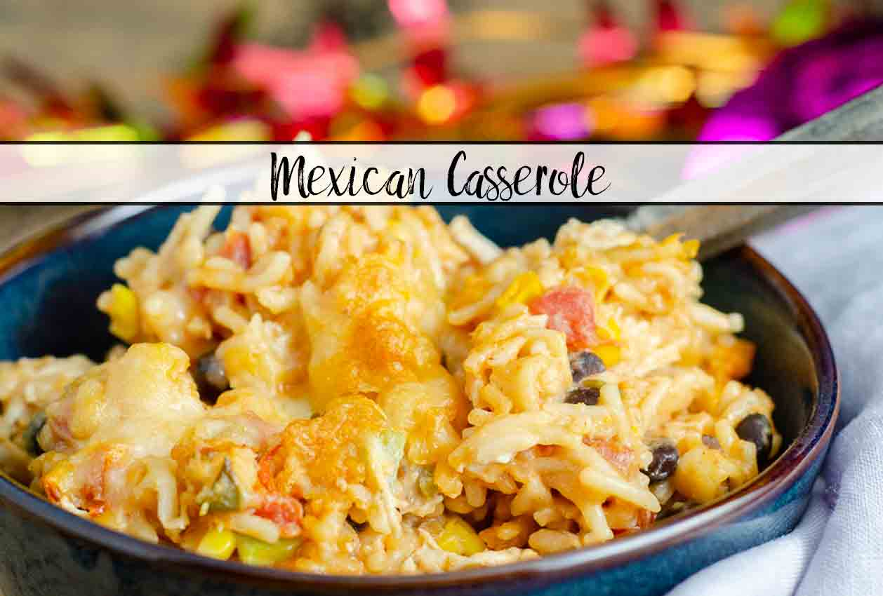 Easy Mexican Chicken Casserole Recipe. Easy to make and full of delicious flavor. Makes a big batch…but the leftovers taste fabulous. #mexican #mexicancasserole