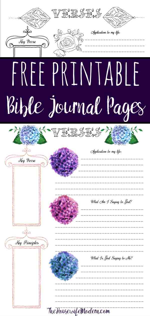 photograph about Printable Bible Journal Pages referred to as Cost-free Bible Journaling Printables (Which includes One particular Your self Can Coloration!)