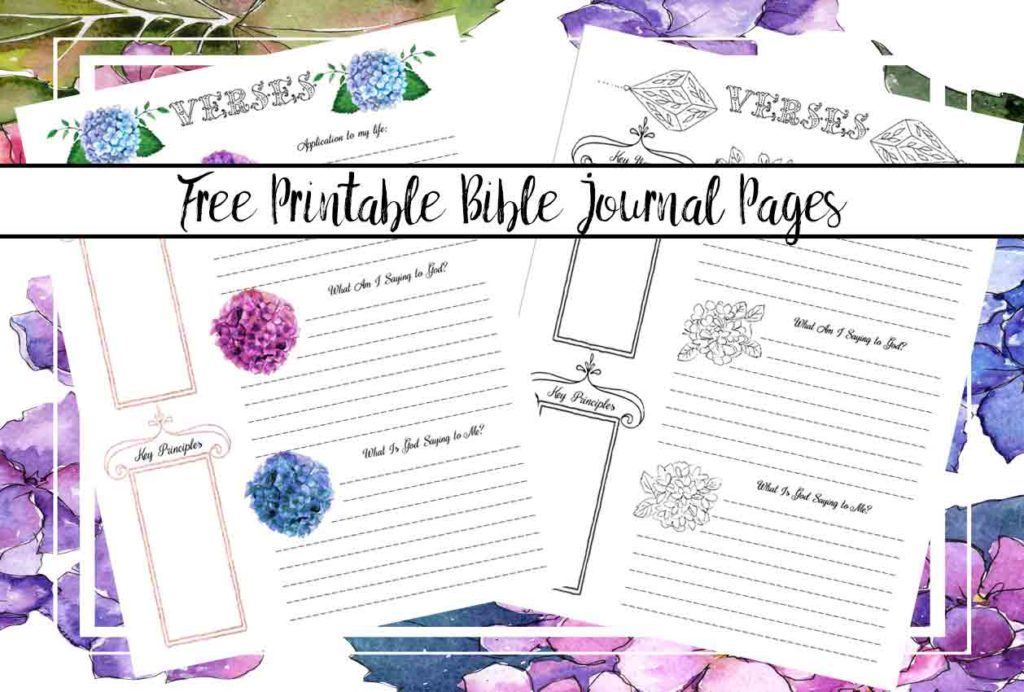 Free Bible Journaling Printables: Including One You Can Color. Bible journal pages for your bible study. Apply the Bible to your life and focus on God.