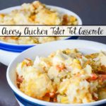 Cheesy Chicken Tater Tot Casserole: An Easy Slow-Cooker Meal. Delicious, satisfying casserole that you won't feel guilty making.