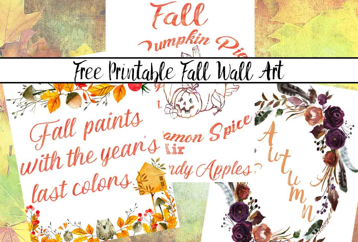 Free Printable Fall Wall Art. 3 free fall wall art printable designs to decorate your home or office. Celebrate autumn!
