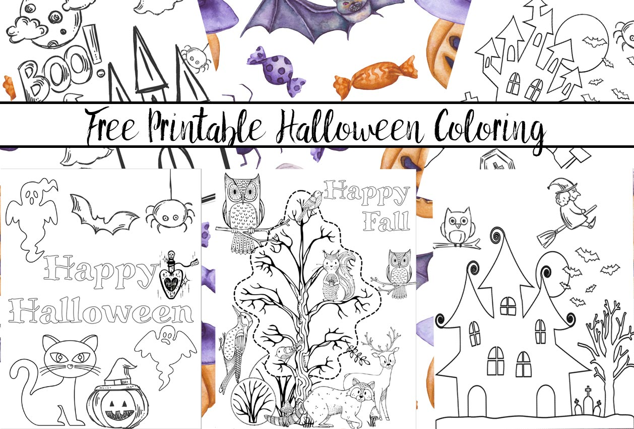 photograph regarding Printable Holloween named 5 Totally free Printable Halloween Coloring Web pages for Children